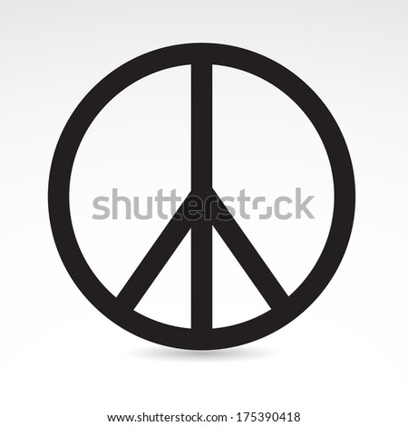 Peace icon isolated on white background. VECTOR illustration. - stock vector