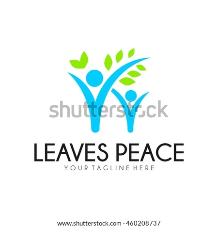 Peace logo template, World Peace symbol.