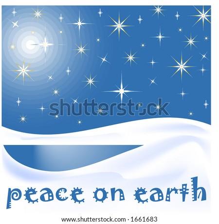 peace on earth - stock vector