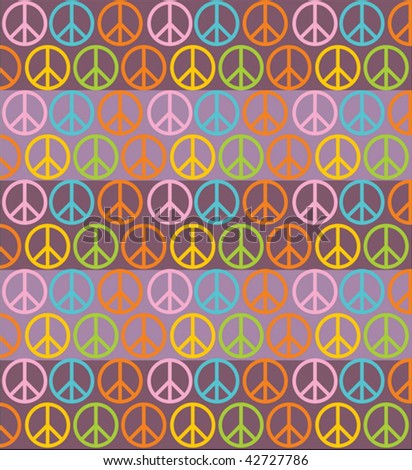 peace, seamless background - stock vector