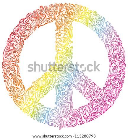 Peace Sign Beautiful Symbol Peace Stock Vector Hd Royalty Free