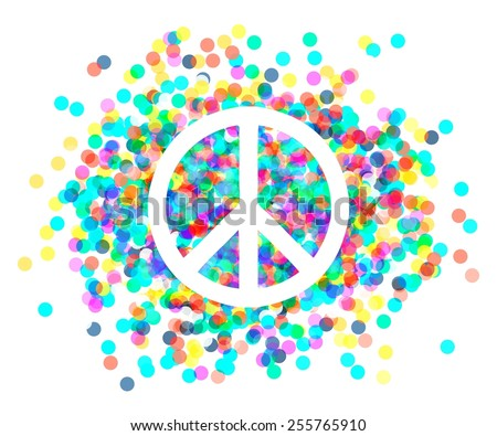 Peace sign. Beautiful symbol of peace. sign pacifism - stock vector