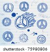 peace sign illustration - stock vector