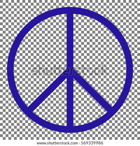 Peace Sign Illustration Blue Icon On Stock Vector 2018 569339986