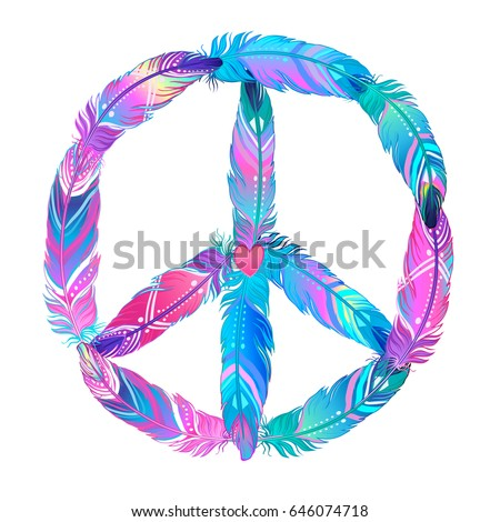 Gorbash Varvara S Portfolio On Shutterstock Peace Sign With Color On Inside