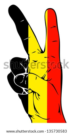 Peace Sign of the Belgian flag