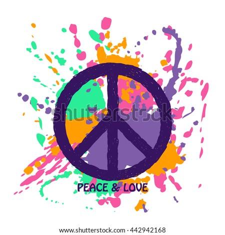 Peace Symbol Vector Stock Vector 446039746 Shutterstock