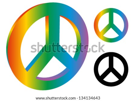 Peace Sign Peace Symbol 3d Version Stock Vector Hd Royalty Free