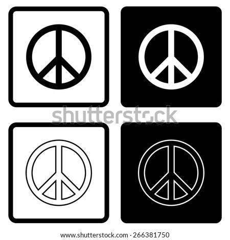 Peace sign - vector - stock vector