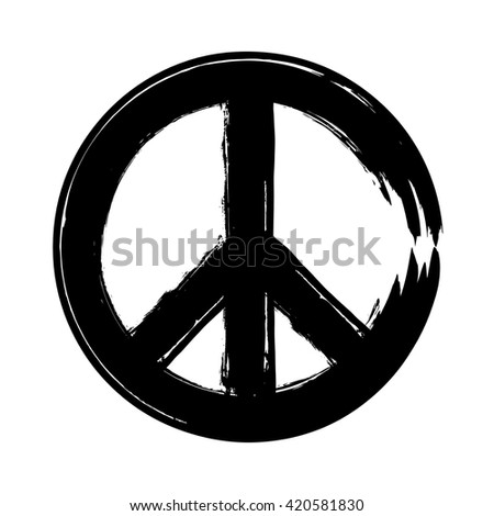 peace symbol icon vector friendship pacifism stock vector 2018 rh shutterstock com vector peace sign free vector peace hand sign