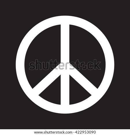 Peace vector icon - stock vector