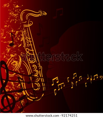 peace with music - stock vector