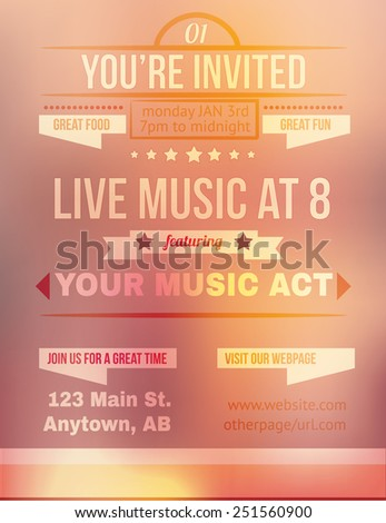 Invitation Flyer Template Karaoke Party Invitation Flyer Template