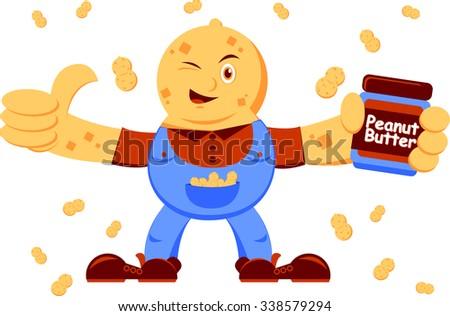 Peanut Butter - stock vector