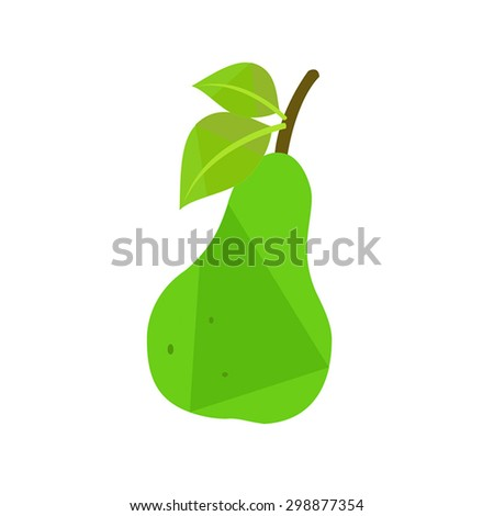 Pear fruit - stock vector