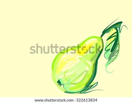pear, fruit, pear tree, garden, juice, fresh, pear, ripe, vitamins,  - stock vector