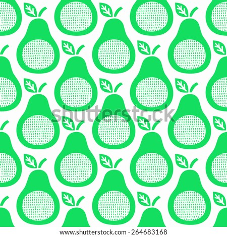 Pear seamless background. Vector illustration.  - stock vector