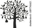 pear tree - stock vector