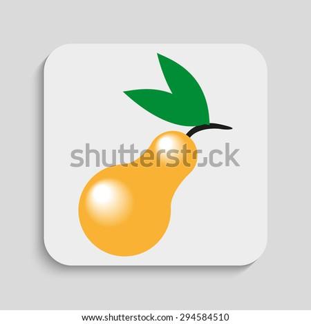 Pear. Vector icon. - stock vector