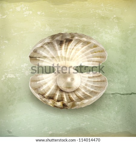 Pearl, old-style vector - stock vector