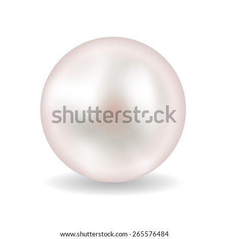 Pearl Realistic Vector Illustration EPS10 - stock vector