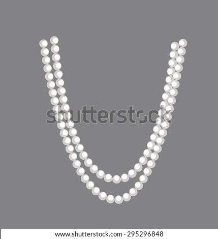 Pearls Necklace clipart - stock vector