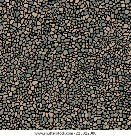 pebble mosaic seamless pattern - stock vector