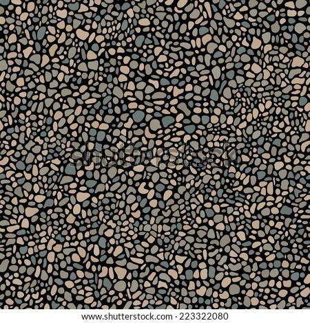 pebble mosaic seamless pattern - stock vector