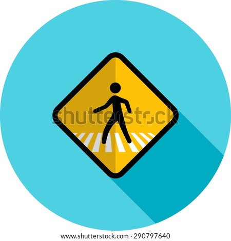 Pedestrian, corssing, crosswalk icon vectgor image. Can also be used for transport, transportation and travel. Suitable for mobile apps, web apps and print media.  - stock vector