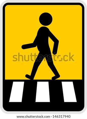 Pedestrian icon - stock vector