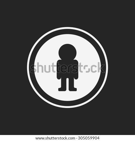 Pedestrian sign icon - stock vector