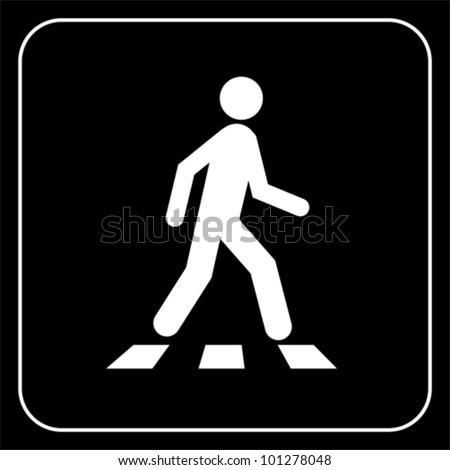 Pedestrian symbol, vector - stock vector