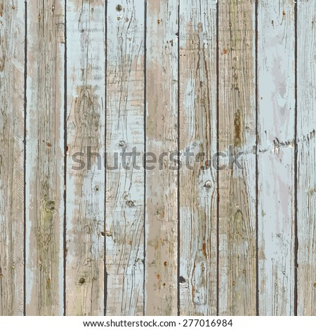 Peeled Painted Wooden Planks For Your Design. EPS10 vector. - stock vector