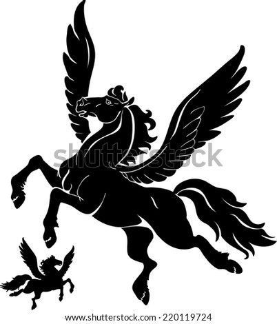 Pegasus - stock vector