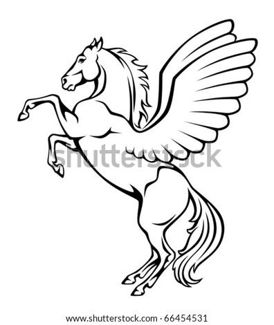 Pegasus - stock vector