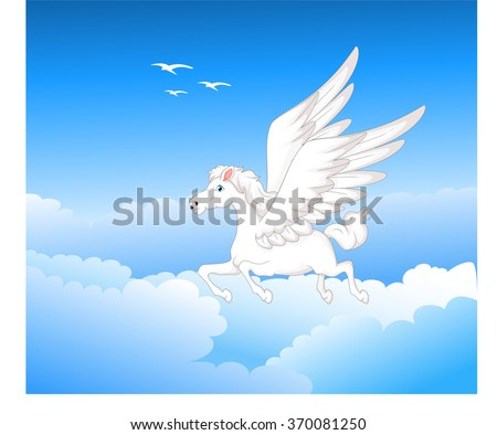 pegasus flying cartoon