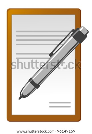 Pen and notebook icon for design. Vector illustration