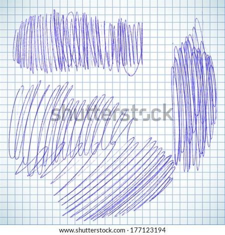 Pen drawing. - stock vector