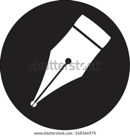 Pen icon - stock vector