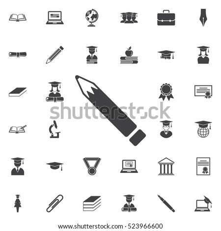 Pen Icon. Education set of icons