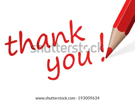 "Pen with text "" thank you! "" - stock vector"