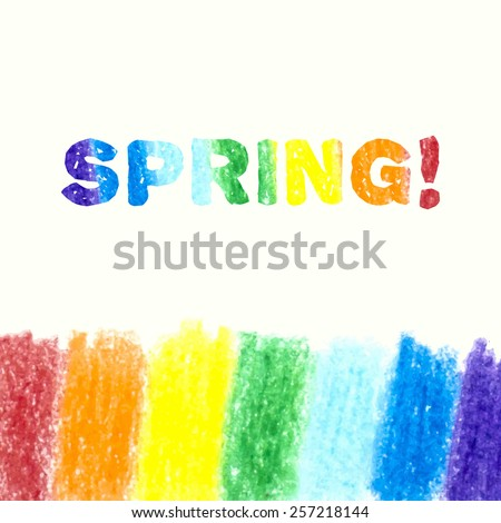 Pencil background with place for text. Sketch design. Rainbow pencil texture. Grunge background. Vector illustration. - stock vector