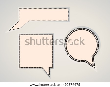 Pencil banners - stock vector