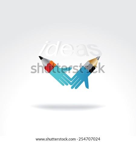 pencil creative art as a hand idea concept - stock vector