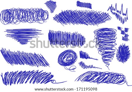 Pencil drawing - stock vector