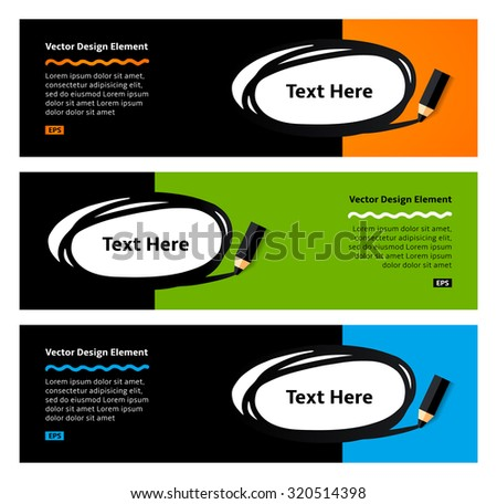 Pencil drawing doodle ellipse frame. Vector  Flat Design Elements. Flyer template.