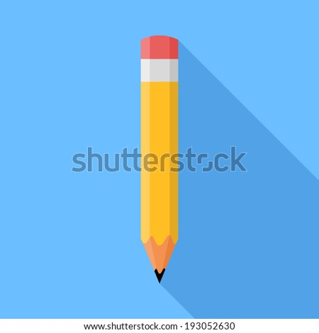 Pencil. Flat Design vector icon - stock vector