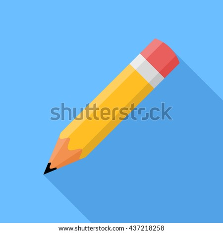 Pencil . Flat vector icon