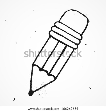 Pencil hand drawn - stock vector