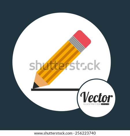 pencil icon design, vector illustration eps10 graphic  - stock vector